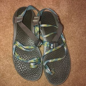 Women's Grey, Green, & Blue Chaco's